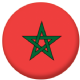 Morocco Country Flag 25mm Keyring